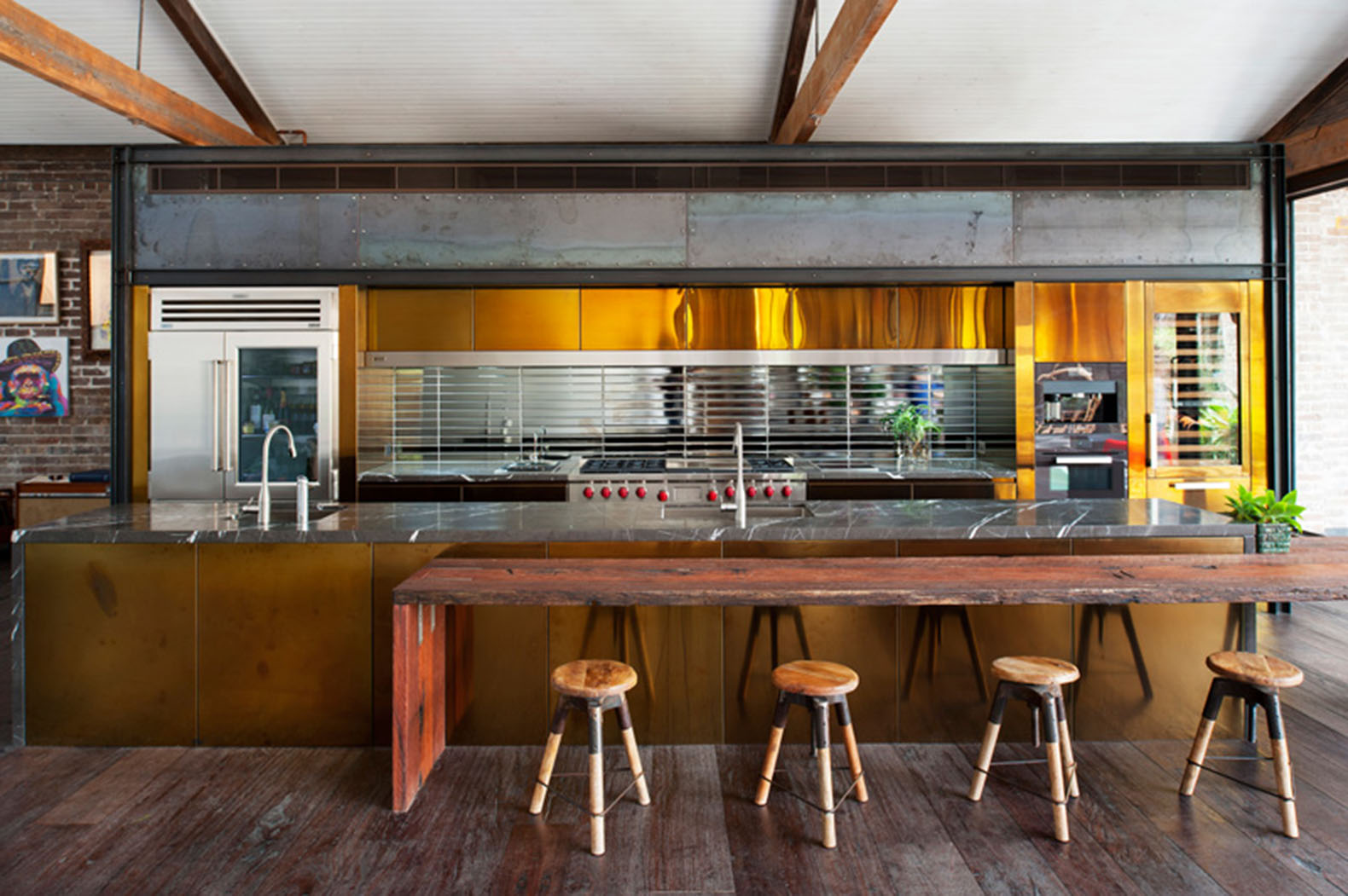Old sydney warehouse transformed into a modern man cave - Warehouse turned into home ...