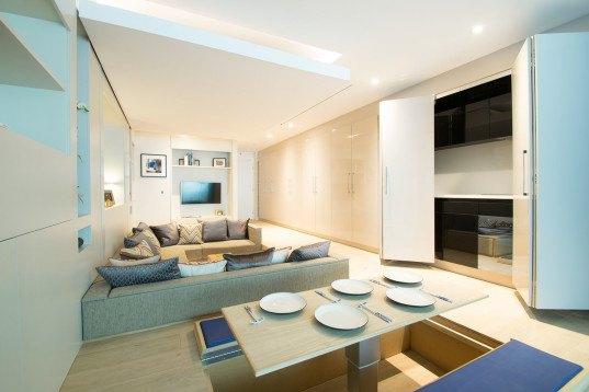 YO!Home, compact spaces, compact living, tiny spaces, small apartments, Simon Woodroffe, smart design, green interior, transformable furniture, movable walls, multiuse spaces, green architecture
