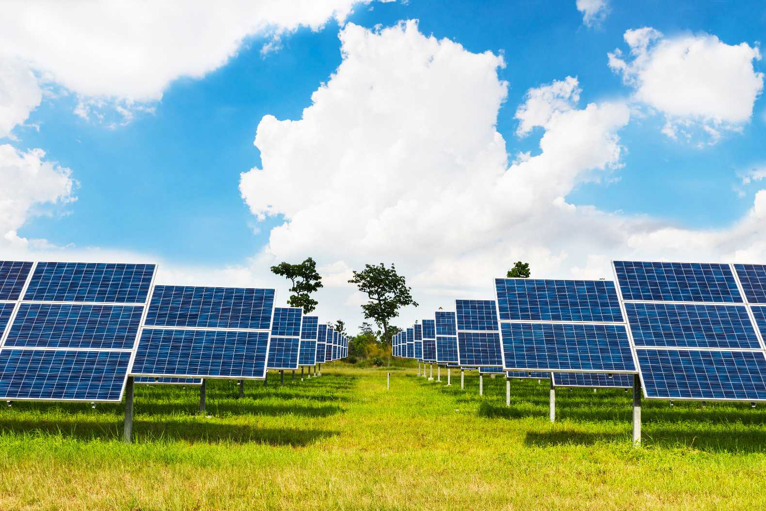 Large-scale solar is nearly the same cost as other fuels in world's three biggest markets