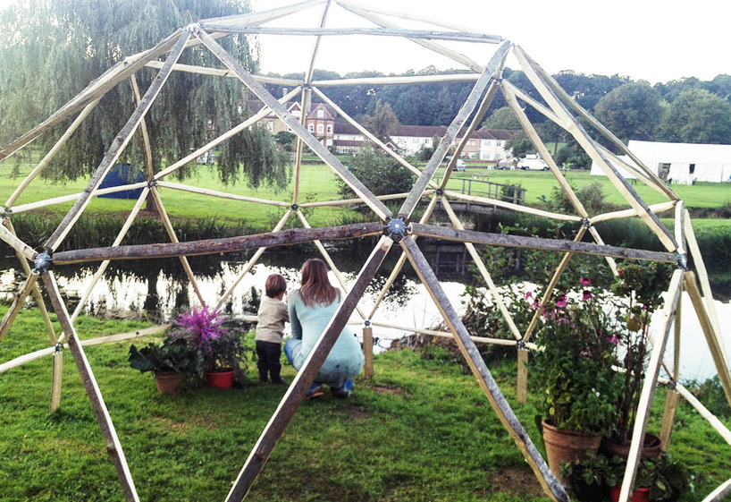 The Hubs is a backyard geodesic dome that goes up in under an hour