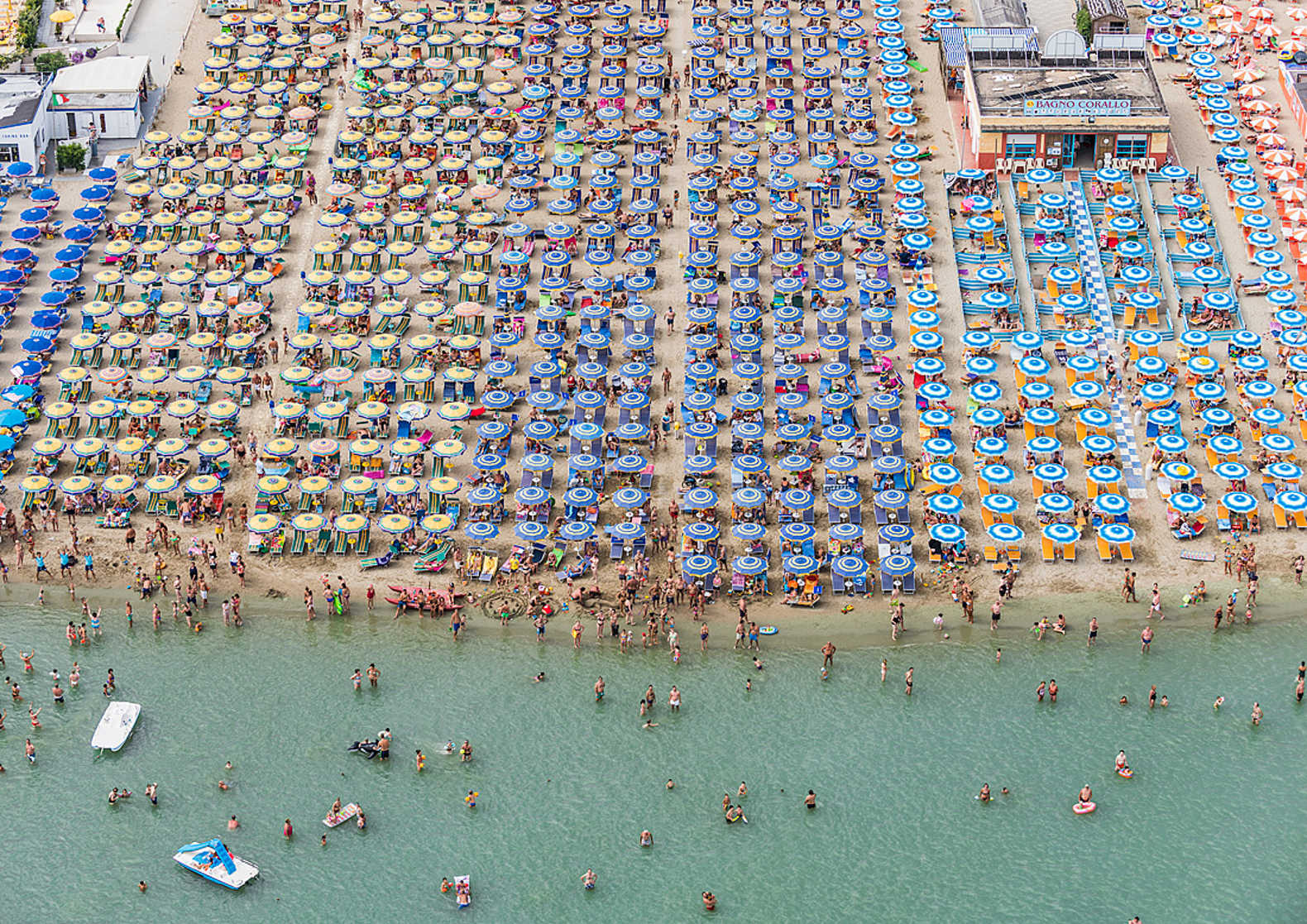 Bernhard Lang's aerial photographs give a whole new perspective on the day at the beach