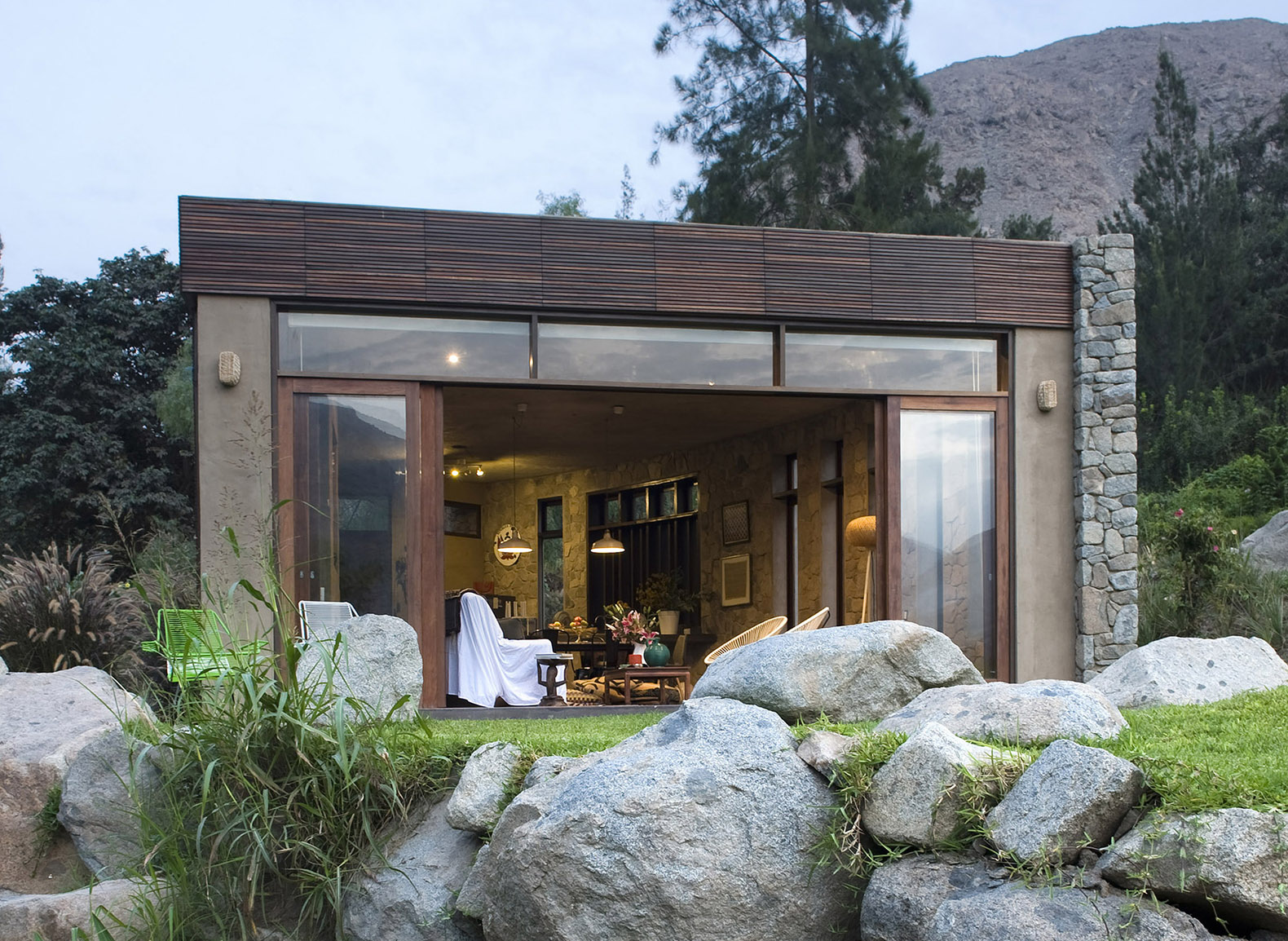 Peru's Chontay house was made using locally-sourced wood and clay to help it blend in with the surrounding mountains