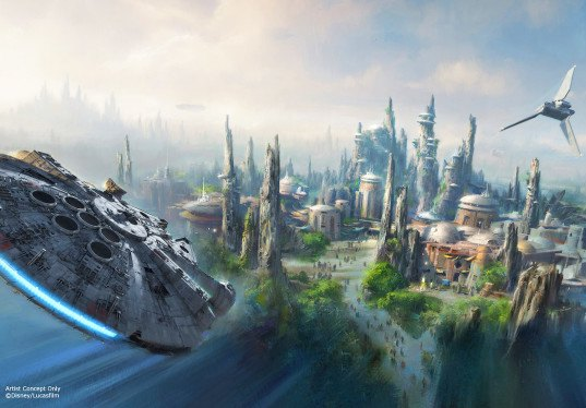 Star Wars, Disneyland, Disney, theme parks, Star Wars theme park, Millennium Falcon, Mos Eisley, hyperspace mountain, Bob Iger, D23 Expo 2015, droids, Star Tours, Space Mountain