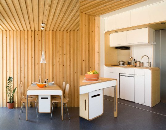 Studio GO, NOEM, Studio GO by NOEM, prefab, prefab house, Energy Efficiency A Rating, modular, modular architecture, prefab architecture, modular house, low energy consumption, full height glazing, modern house, wood lined interior, passive design principles, highly efficient insulation,