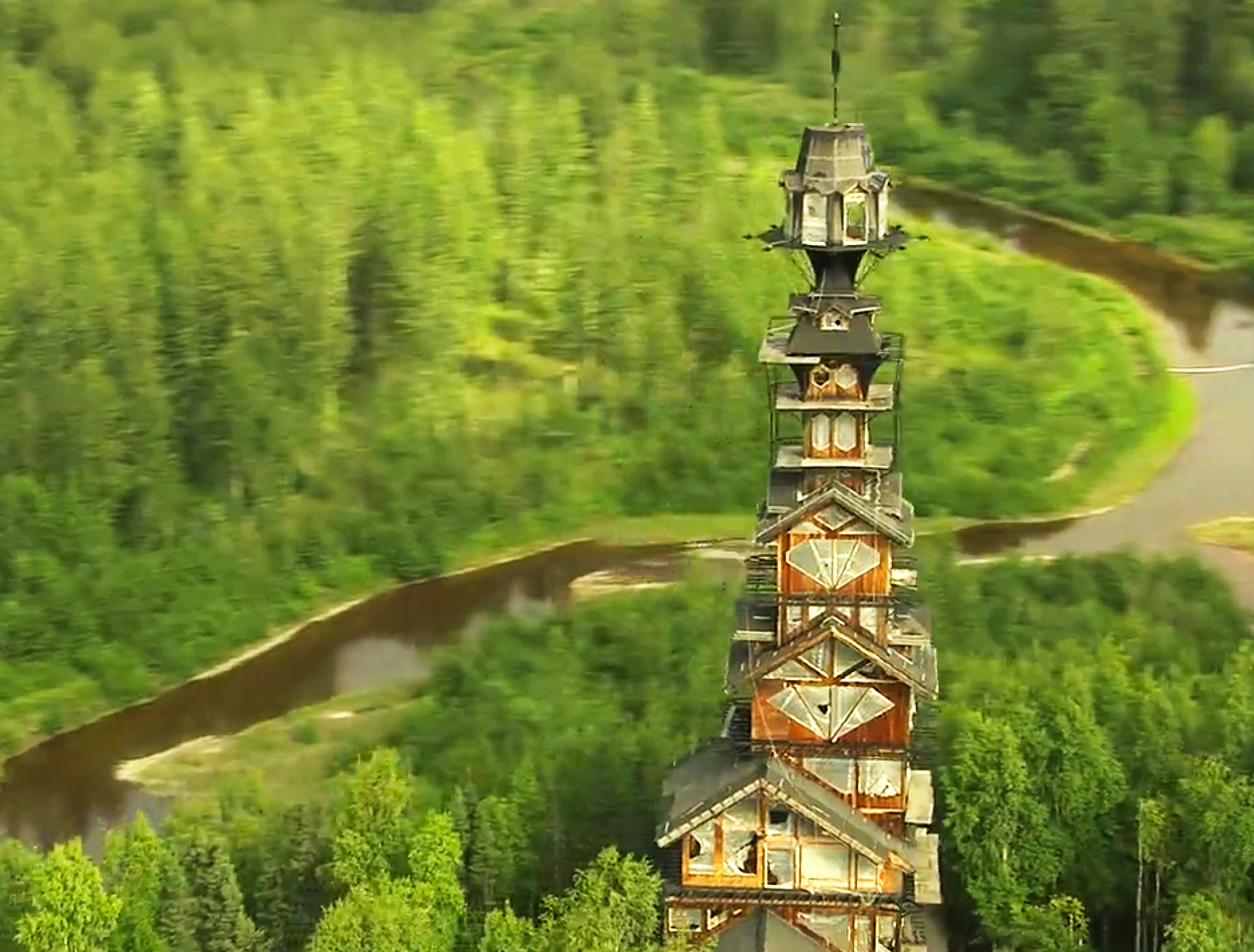 alaska s dr seuss house is a whimsical tower made of. Black Bedroom Furniture Sets. Home Design Ideas