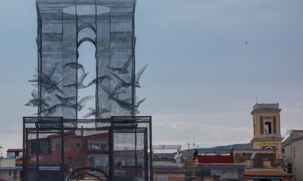 Incipit is a wire mesh sculpture by the sea that looks totally ...