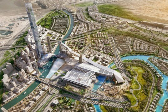 Dubai, Meydan One, the dubai one, world's longest indoor ski slope, indoor ski resort, indoor ski slope, Meydan racecourse, Burj Khalifa, Mall of the Emirates, Dubai architecture, indoor ski run, artificial snow