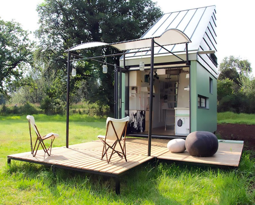 solar powered pod idladla is a tiny flat pack home for two that lets you live almost anywhere. Black Bedroom Furniture Sets. Home Design Ideas