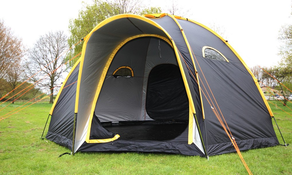Displaying ad for 5 seconds & Modular POD tents connect to create multi-room camping getaways ...