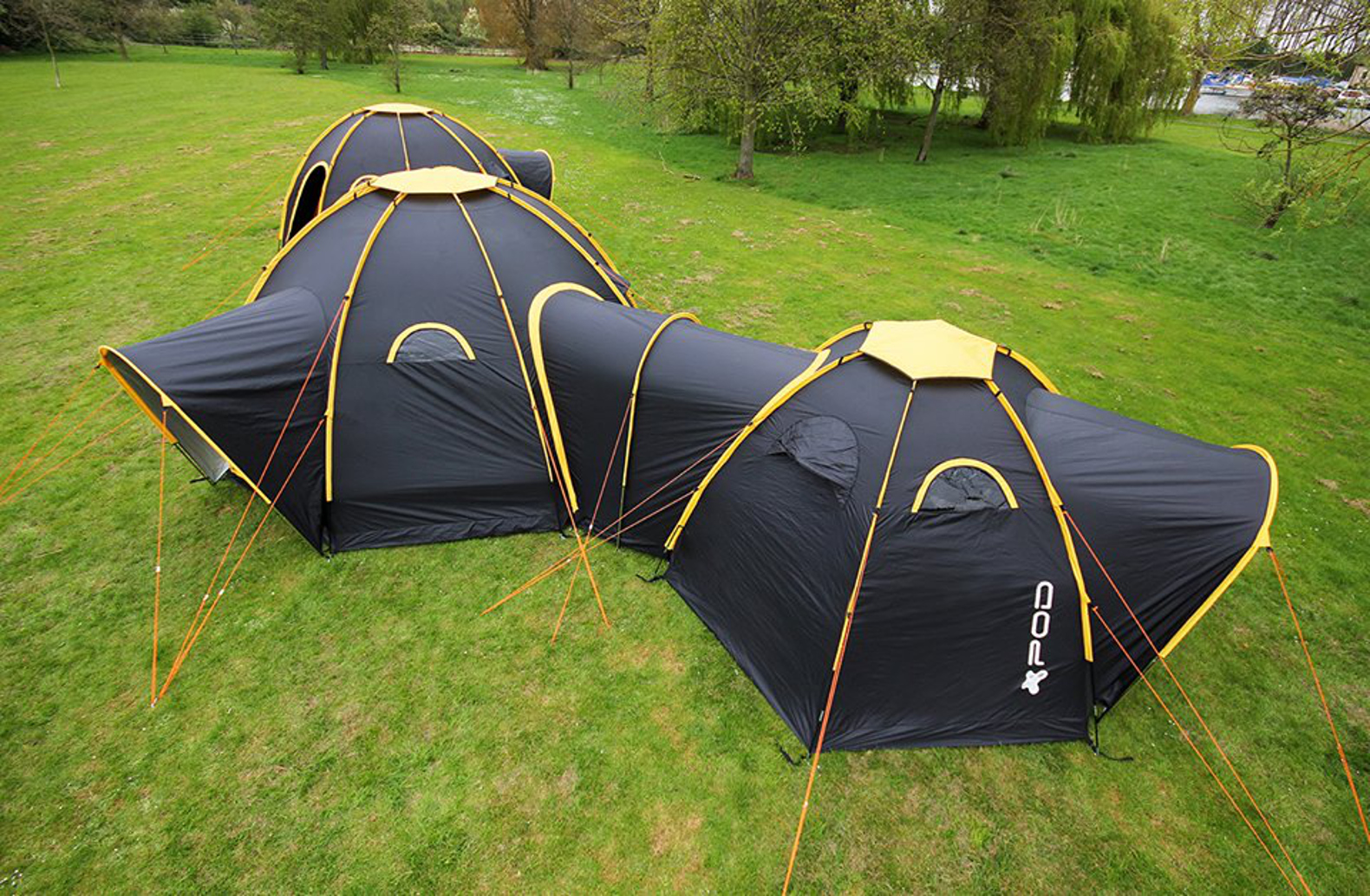 Modular POD tents connect to create multi-room camping getaways for family and friends