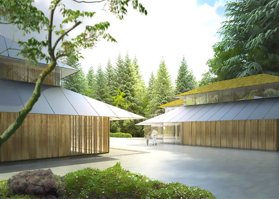 ... Japanese Garden With LEED Certified Buildings. Architecture