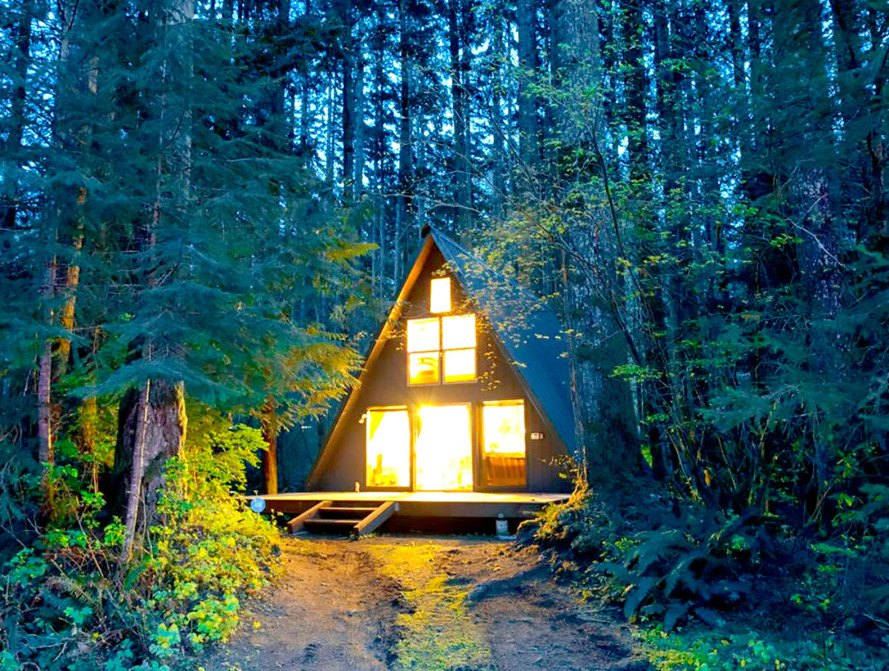 Adventure awaits at the charming Tye Haus A-frame Cabin in the woods ...