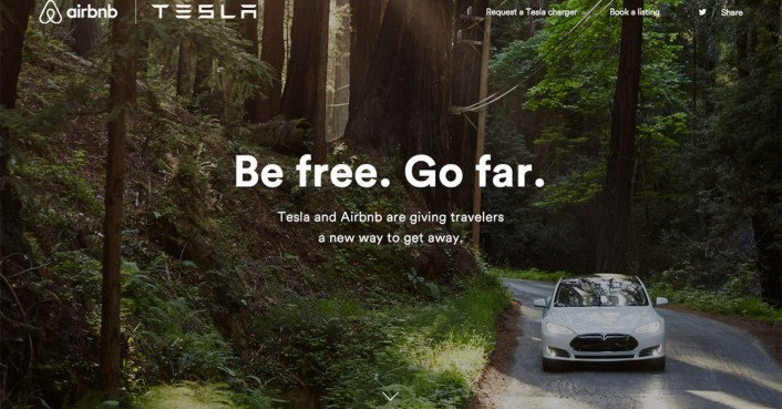 Airbnb Tesla Evchargers X on Us Rally Cars