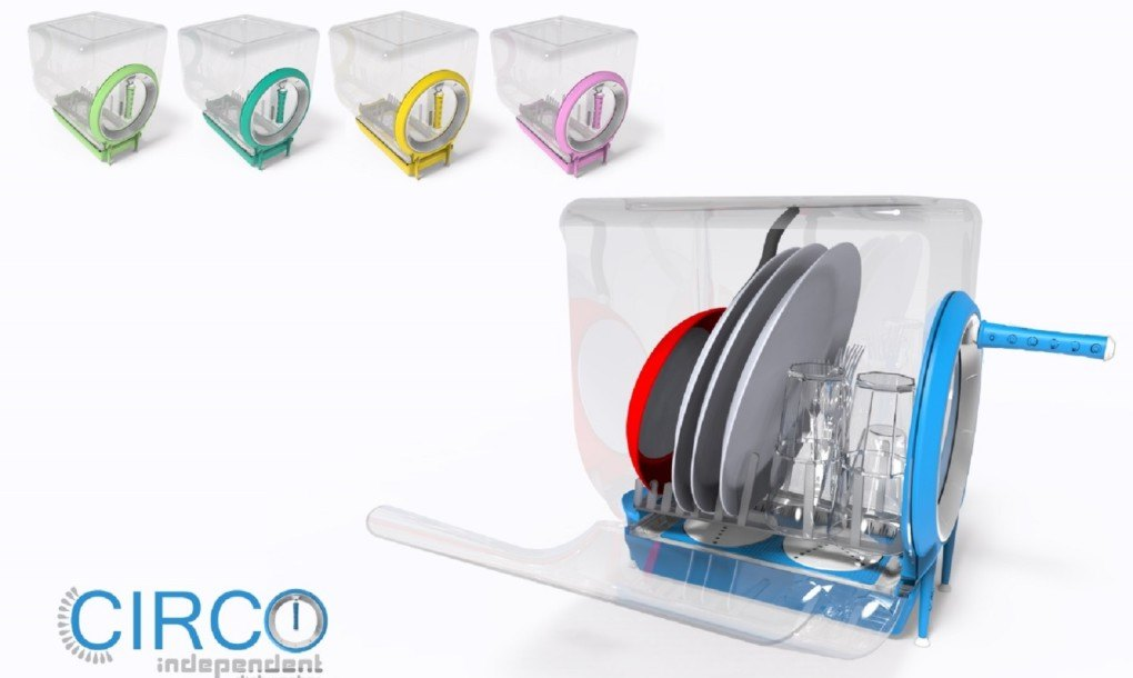 Hand Powered Circo Independent Dishwasher Saves Time