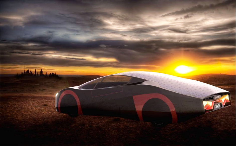The Immortus Electric Sports Car Can Drive All Day Using