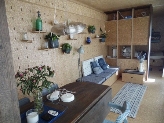 Sustainer Homes, off grid house, off grid, shipping container house, cargotecture, solar power, wind power, recycled rainwater, rainwater collection, eco-board, gray water, helofyte filter, air-source heat pump, portable home, Cradle2Cradle