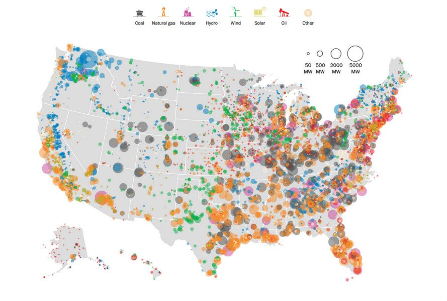This Insanely Detailed Map Shows Every Power Plant In The United States - Detailed-map-of-us