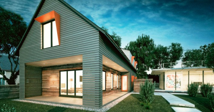 Acre design 39 s automated axiom house is an affordable zero for Zero energy house design