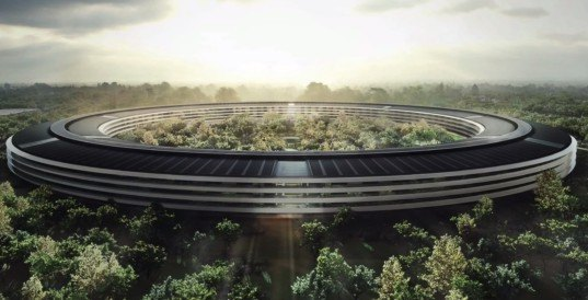 Apple Campus 2, Duncan Sinfield, Apple campus, Apple spaceship campus, drone video, aerial footage apple campus, Foster + Partners, Stee Jobs, Silicon Valley