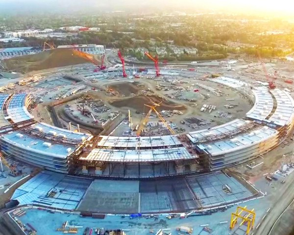Apple Campus 2, Duncan Sinfield, Apple campus, Apple spaceship campus, drone video, aerial footage apple campus, Foster + Partners, Steve Jobs, Silicon Valley