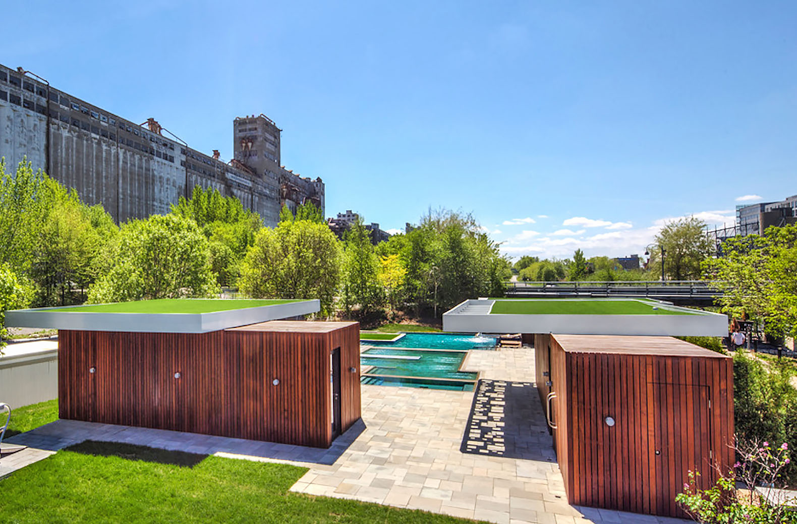 Green-roofed shipping containers give Montreal's floating Bota Bota spa an eco boost