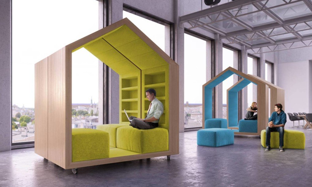 Dymitr Malcewu0027s Tree House Modules Provide Privacy In Open Plan Offices |  Inhabitat   Green Design, Innovation, Architecture, Green Building