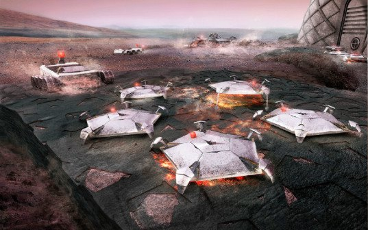 Foster+Partners, space habitat, Mars, Mars habitat, NASA, space travel, 3d printing, 3d printing technology, futuristic design, modular architecture, inflatable architecture