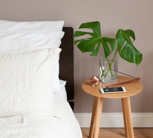 furniqi, ikea wireless charging, qi wireless charging, wireless charging, wireless phone charger, wireless charging furniture, nature inspired furniture, bamboo furniture, bamboo table, hidden wireless charging