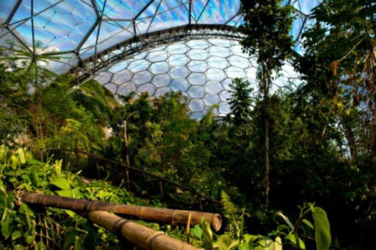 Grimshaw Architects, The Eden Project, China Eden, Qingdao, biodome park, biodome structures, largest rainforest in captivity, hex-tri-hex space, greenhouse design, eden project biodomes, cornwall parks, urban design, green design, sustainable design,