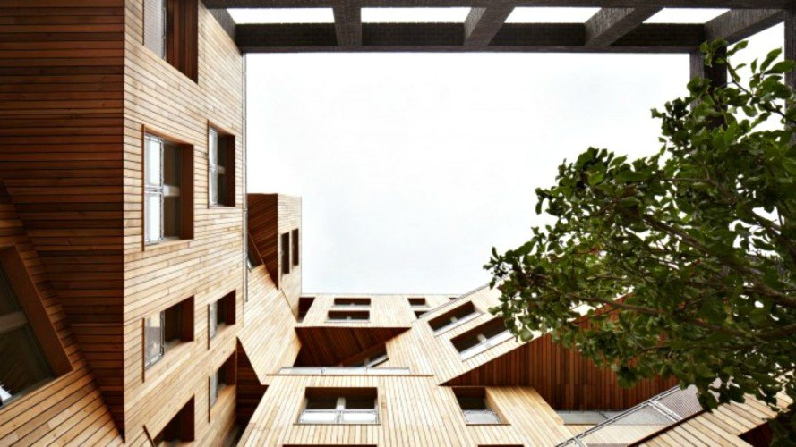 Hawkins brown wooden cube building9 inhabitat green design innovation architecture green - Wooden cube house plans ...