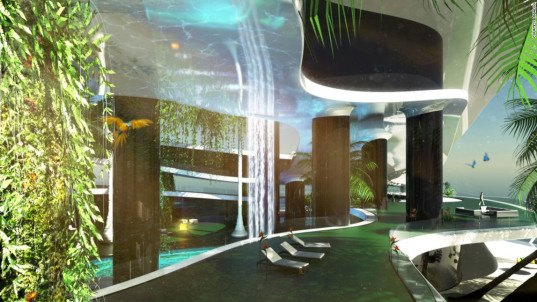 Kokomo Ailand, Migaloo, floating island, floating architecture, green architecture, water architecture, green technology, innovative design, luxury resort, floating resort