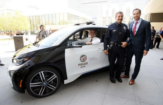 os angeles, eric garcetti, la, sustainable city plan, green car, green transportation, LAPD, electric car, plug-in hybrid, BMW i3, Tesla Model S, BMW, Tesla