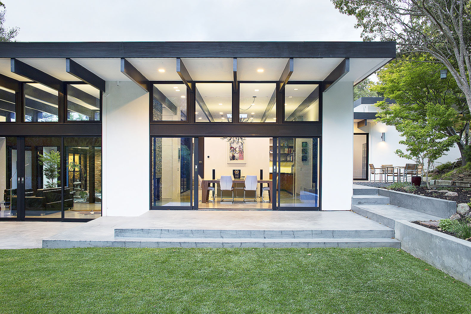 klopf architecture replaced a dilapidated 1940s house with a