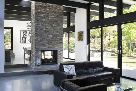 Klopf Architects,  Eichler homes, energy efficient architecture, floor-to-ceiling windows, open layout, green architecture, skylights, green interior