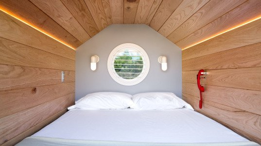 Napmobile, Casper mattresses, mattress, flame retardants, green living, mobile showroom, trailer, nap pods, green design, mobile store, New York designers, NASA, smart materials, green materials