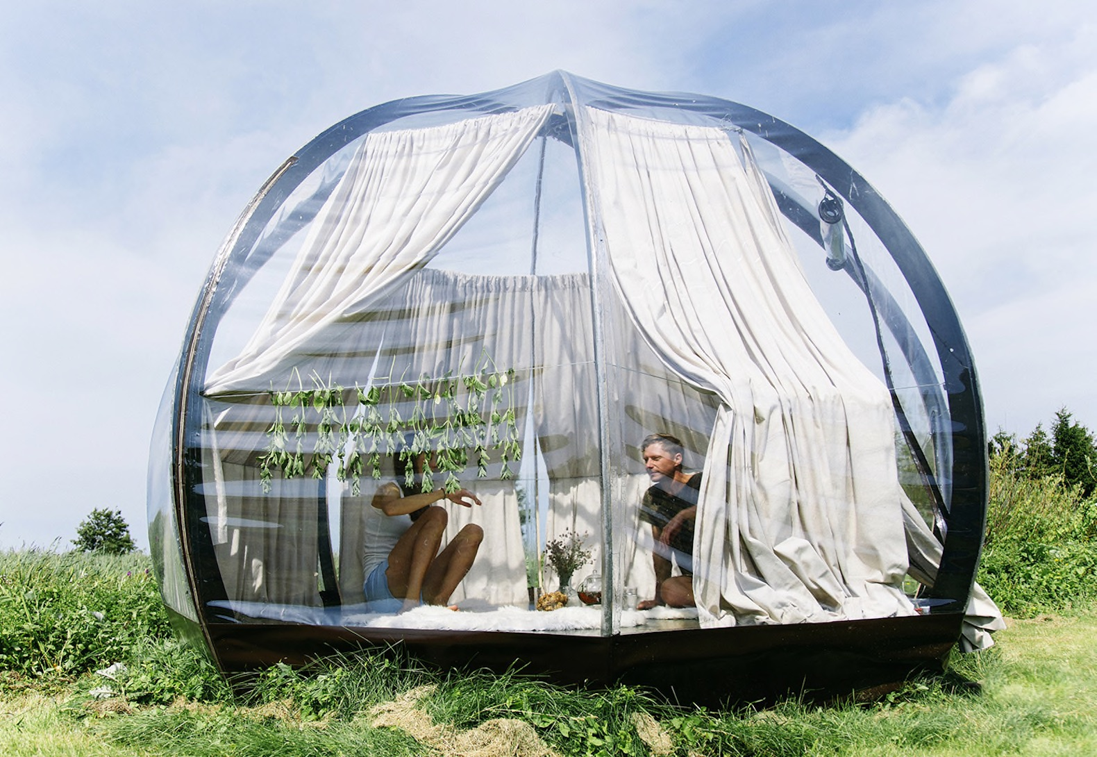 See-through dome lets you immerse yourself in nature and sleep beneath the stars & Tents | Inhabitat - Green Design Innovation Architecture Green ...