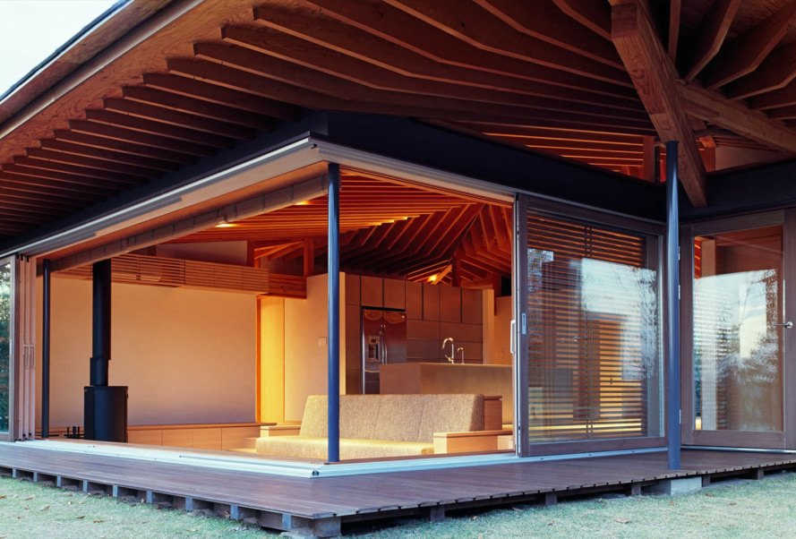 Timber K's Residence in Japan contains a home and a