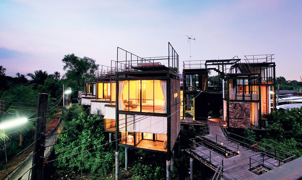 Exotic Solar And Wind Powered Bangkok Tree House Resort Is