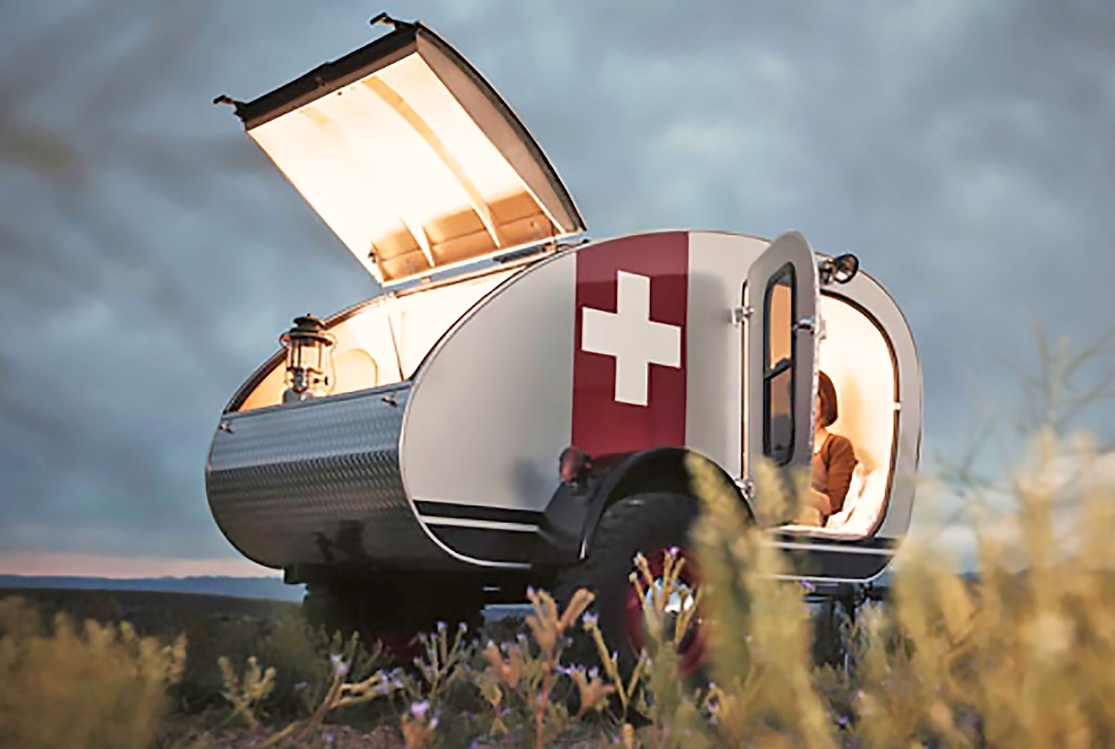 Modern Retro Camping Trailers - Solar powered vintage overland caravan is tough enough to go off road
