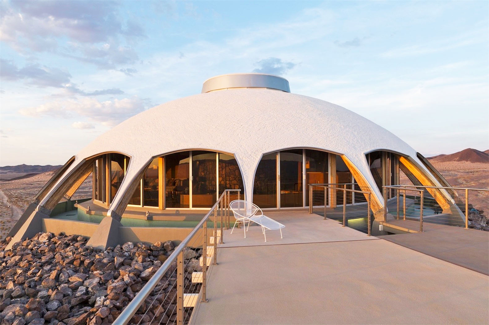 California's Volcano House boasts 360 degrees of Mojave desert views