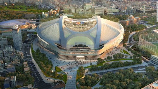 Zaha Hadid Architects, Nikken Sekkei, Olympic Stadium Tokyo, 2020 Olympics, Tokyo, stadium design, green architecture, Japan