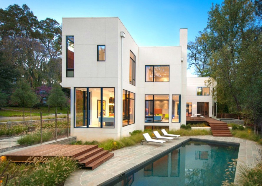 13 energy efficient modules make up this prefab modern for Modern homes in maryland