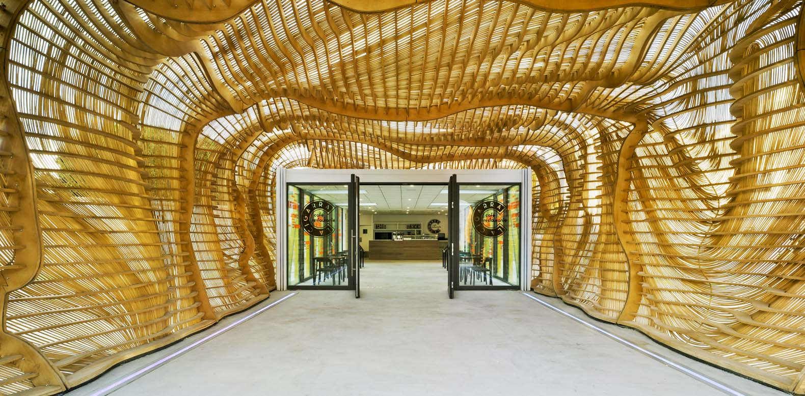 Creative Cicada pavilion in Spain mimics the body of an insect