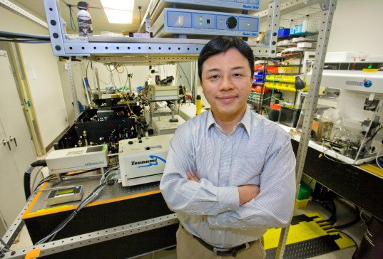 invisibility cloak, cloaking device, Xiang Zhang group, Berkeley Lab, UC Berkeley, gold antennas, reflecting light