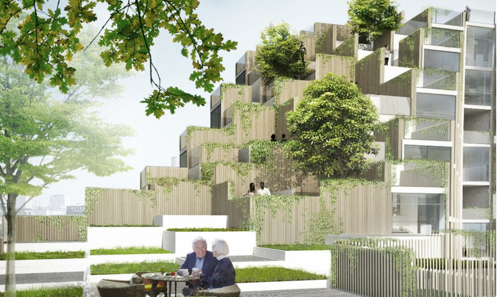 Big Unveils Lush Mountain Like Terraced Building Infused