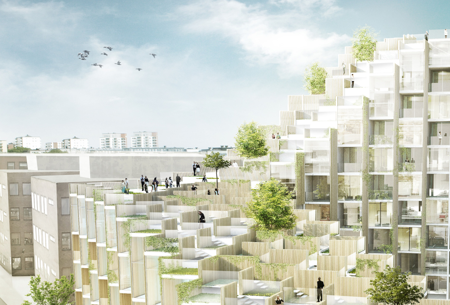 Terrace Building Design vo trong nghia architects | inhabitat - green design, innovation