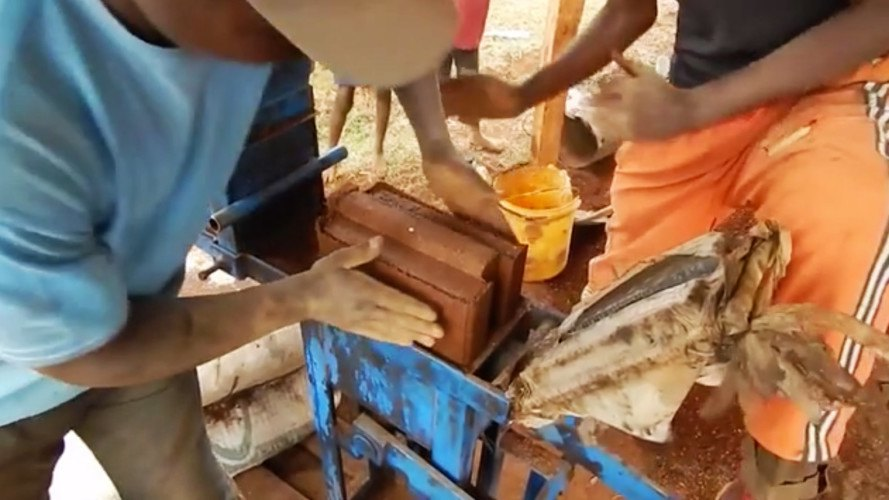 the liberator, ajartech, liberator crowdfunding campaign, compressed earth bricks, compressed earth brick crowdfunding campaign, compressed earth brick press, bulletproof bricks, fireproof bricks, soundproof bricks, bricks made of dirt, bricks made of earth,