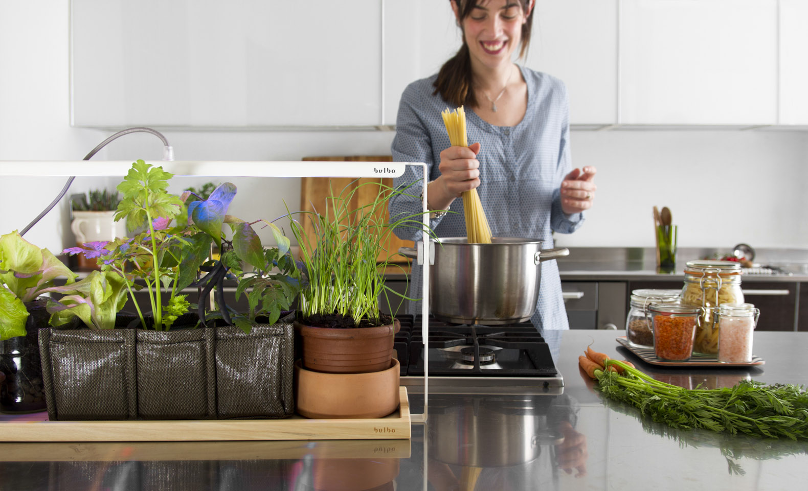 Grow your own fruit and veg indoors in even the smallest spaces with Bulbo
