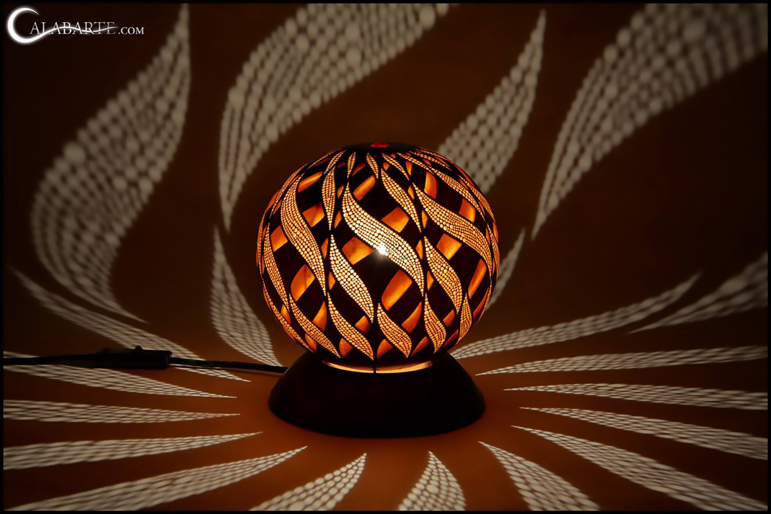 Gourd Lights Intricately Carved Gourd Lamps Cast Magical Shadows On Your Walls