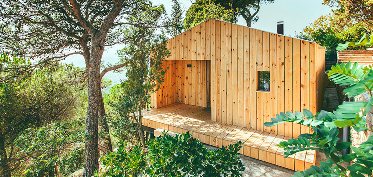 Exquisite solar-powered wooden house in Spain boasts a tiny ecological footprint